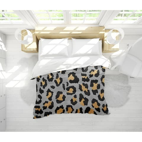 DARK LEOPARD Light Weight Comforter By Marina Gutierrez