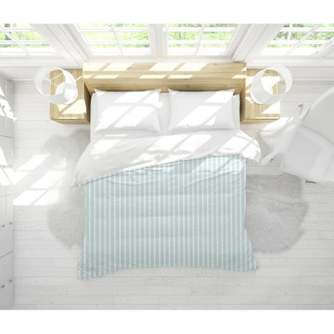 TINY TRIANGLE STRIPE MINT Light Weight Comforter by Kavka Designs