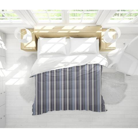 PARISIENNE STRIPE STONEWASH Light Weight Comforter By BG Riley