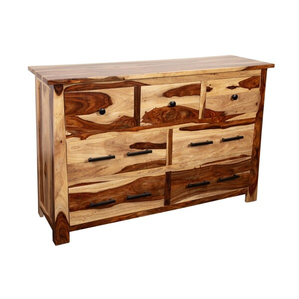 Kalispell Solid Sheesham Wood 7 Drawer Dresser