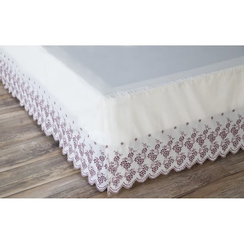 Porch & Den Cobble Queen-size Floral Border Bed Skirt