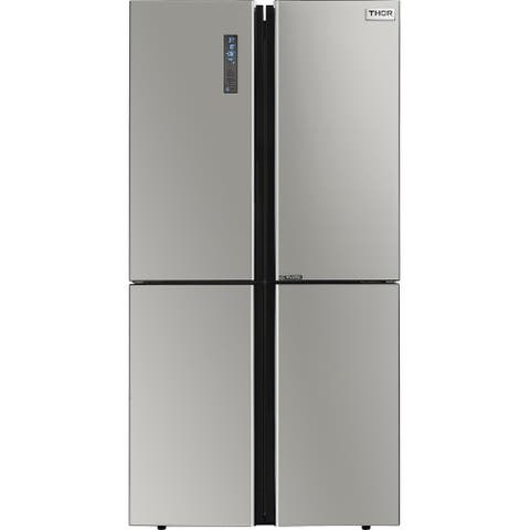 "Thor Kitchen - 22.6 cu. Ft 36"" Counter-Depth 4 Door French Door Refrigerator with Ice Maker"