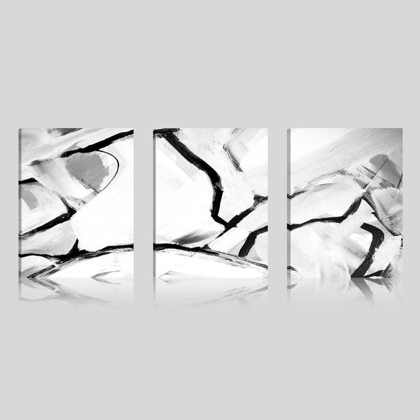 Art Maison Canada, Abstract Black and White Giclee Gallery Wrapped Canvas Wall Art