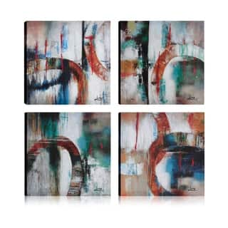 Art Maison Canada, Abstract Bold Colored Rings Giclee Gallery Wrapped Canvas Wall Art