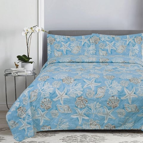 2 Piece Reversible Quilt Set Twin Key Largo