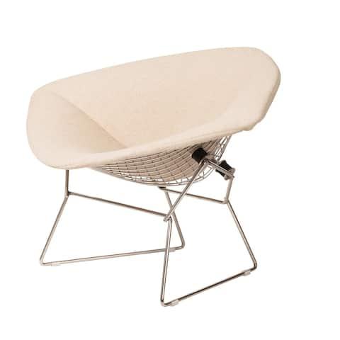 Carson Carrington Hogbacka Upholstered Wire Diamond Chair
