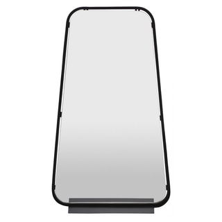 Three Hands  - 26529 - 27.5 in Wall Mirror With Metal Shelf in Black - 16 x 4 x 27.5
