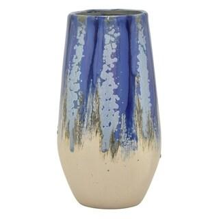"""Three Hands  - 54556 - 12 """" Ceramic Vase - 6.25 x 6.25 x 12"""