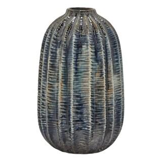 """Three Hands  - 54547 - 11.75 """" Ceramic Vase - 7 x 7 x 11.75"""
