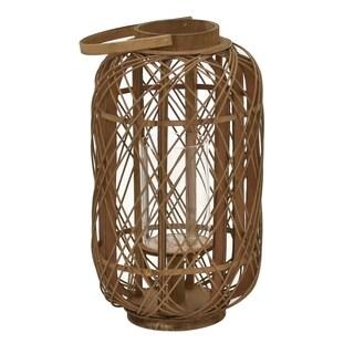 "Three Hands  - 11358 - 20 "" Bamboo Lantern in Brown - 11.5 x 11 x 20"