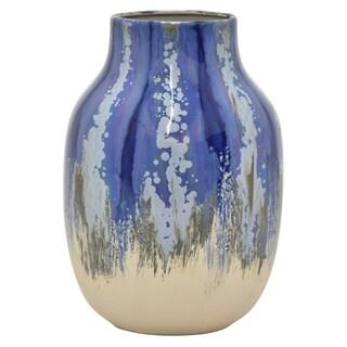 """Three Hands  - 54557 - 11.5 """" Ceramic Vase - 8 x 8 x 11.5"""