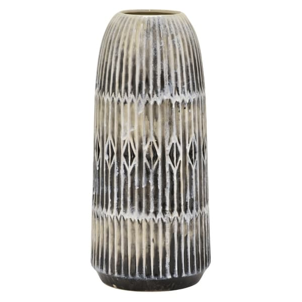 """Three Hands - 54559 - 16 """" Ceramic Vase - 6.75 x 6.75 x 16"""