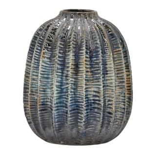 """Three Hands  - 54548 - 9.5 """" Ceramic Vase - 7.25 x 7.25 x 9.5"""