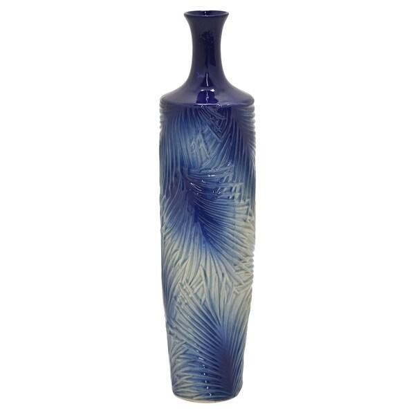 """Three Hands - 54550 - 24.5 """" Ceramic Vase - 6 x 6 x 24.5"""