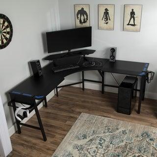 RESPAWN 2010 Gaming Computer Desk, L-Shaped Desk, in BLU (RSP-2010-BLU)