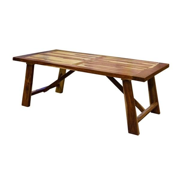 Kalispell Solid Sheesham Wood Dining Table Natural Free Shipping Today 28285628