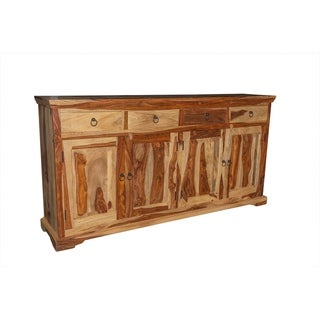 Taos Solid Sheesham Wood 4 Door Sideboard
