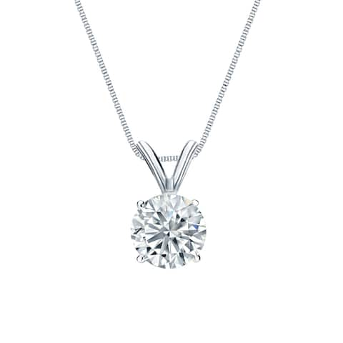 Ethical Sparkle 14k Gold 5/8ct TDW Diamond Lab Grown Solitaire Necklace