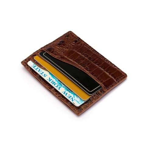 Alicia Croc Credit Card Holder