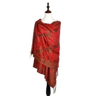 "Link to Women Reversible Paisley Pashmina Shawl Wrap -72"" x 27"" Similar Items in Scarves & Wraps"