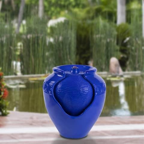 Jar Water Fountain by Pure Garden - 15 x 15 x 17