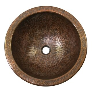 Link to Hammered Copper Large Undermount Lavatory Sink, The Copper Factory Similar Items in Sinks