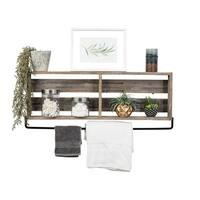 Del Hutson Designs Reclaimed Bathroom Plank Shelf Large 36""