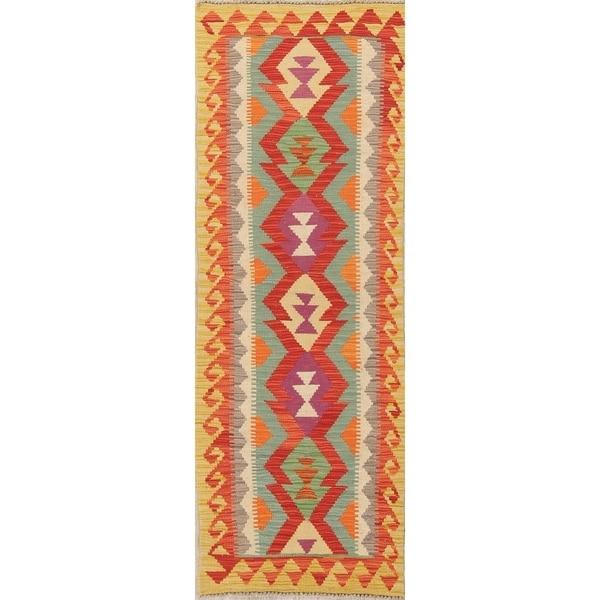 "One-of-a-Kind Persian Southwestern Hand Woven Oriental Runner Rug - 6'4"" x 2'3"" Runner"