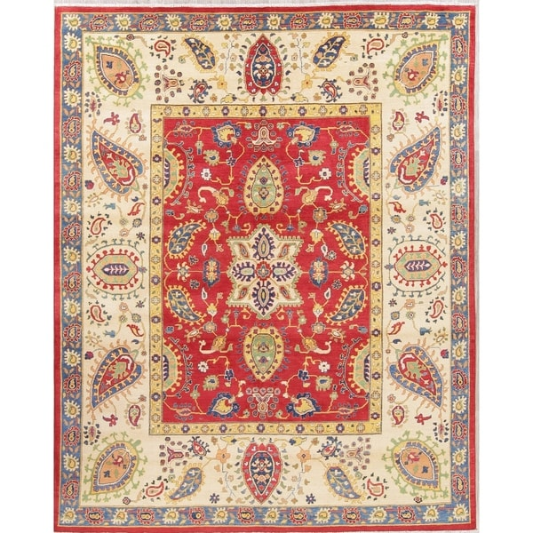 "Oriental Kazak Pakistan Hand-Knotted Wool Traditional Persian Area Rug - 10'8"" x 8'4"""