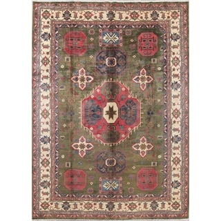 "Kazak Oriental Hand-Knotted Wool Traditional Pakistani Area Rug - 13'7"" x 9'11"""