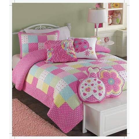 Porch & Den Ridge Pointe Patchwork Cotton Reversible Quilt Set