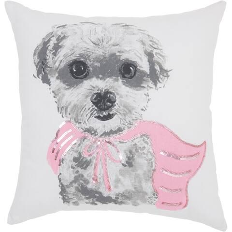 Porch & Den Niblick Super Dog 18-inch Throw Pillow