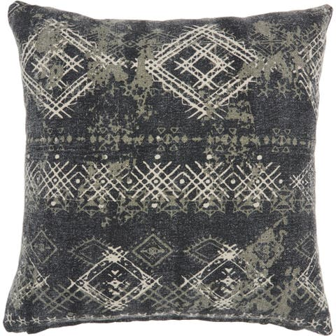 Carbon Loft Distressed Diamonds Throw Pillow