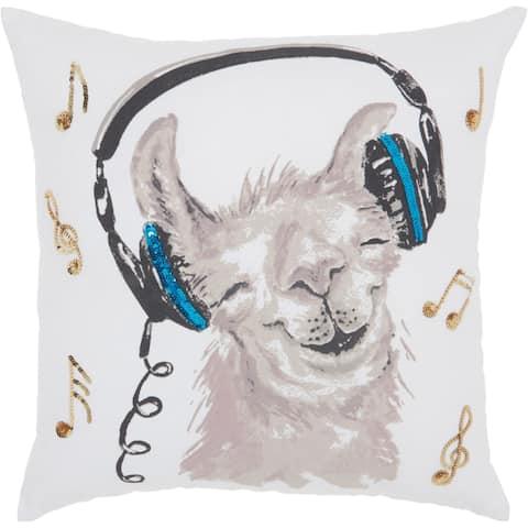 Porch & Den Okja Rockin' Llama 18-inch Throw Pillow