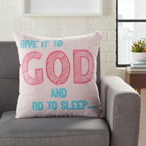 Porch & Den Pfister Give to God-Go Sleep' 18-inch Throw Pillow