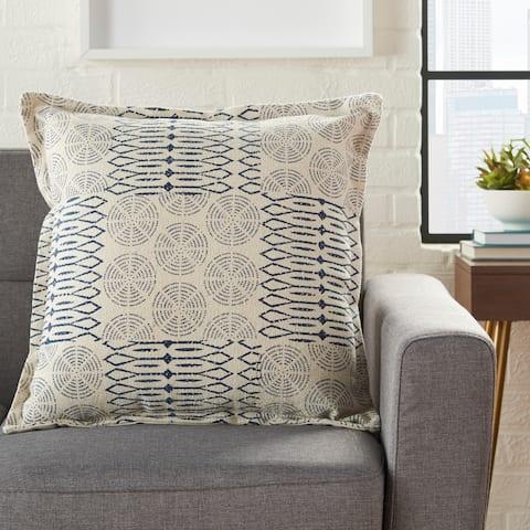 Porch & Den Potts Circle Patch 20-inch Throw Pillow