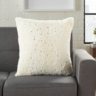 The Gray Barn Metallic Stars 18-inch Throw Pillow