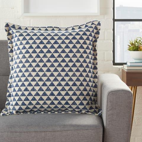 Porch & Den Nichwana Triangles 20-inch Throw Pillow