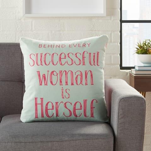 Porch & Den Olaf Successful Woman' 18-inch Throw Pillow