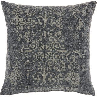 Carbon Loft Distressed Damask Throw Pillow