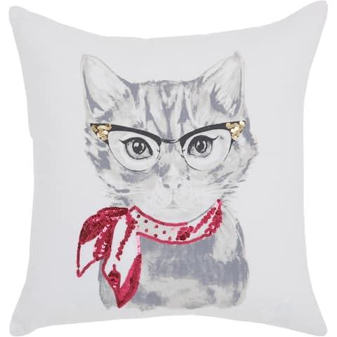 Porch & Den Poynter Classic Kitty 18-inch Throw Pillow