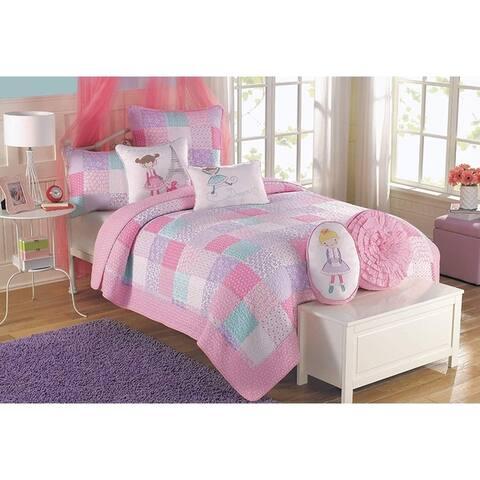 Cozy Line Angelina Patchwork Reversible Cotton Quilt Set