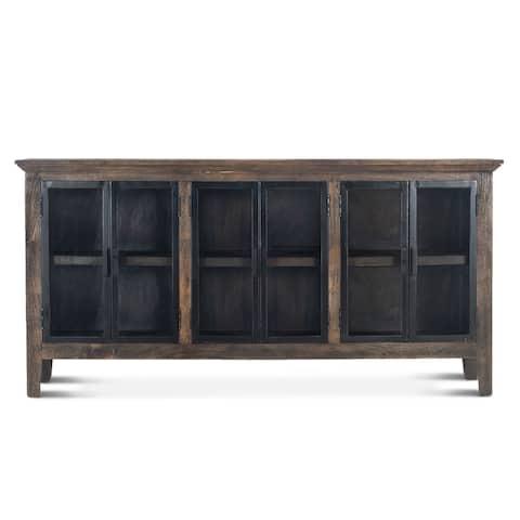 Dakota 70-Inch Sideboard with Glass Doors