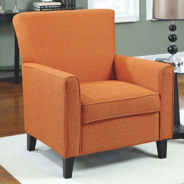 Accent Seating Orange Accent Chair With Contemporary: Shop Contemporary Design Orange Upholstered Living Room
