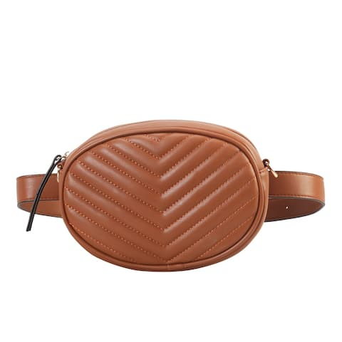 Diophy Fashion Two Ways Use Fanny Pack Womens Chic Waist Bag OC-6850