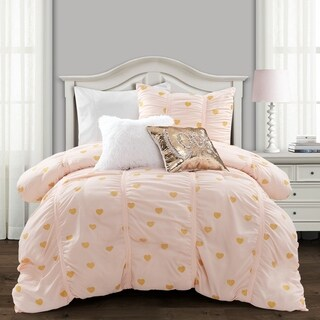 Link to Lush Decor Distressed Metallic Heart Print Comforter Set Similar Items in Kids Comforter Sets
