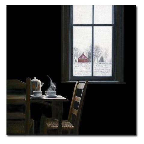 Pause by Karen Hollingsworth Gallery Wrapped Canvas Giclee Art (30 in x 30 in)