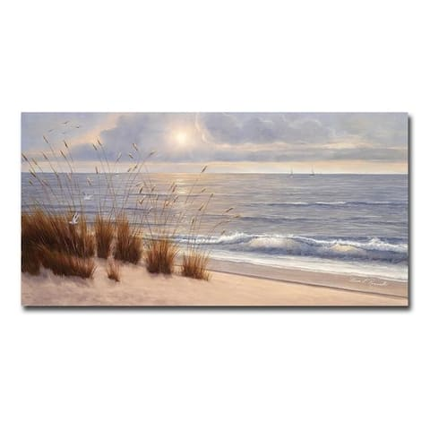 Seashore by Diane Romanello Gallery Wrapped Canvas Giclee Art (18 in x 36 in)