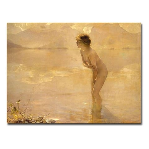 September Morn by Paul Chabas Gallery Wrapped Canvas Giclee Art (18 in x 24 in)