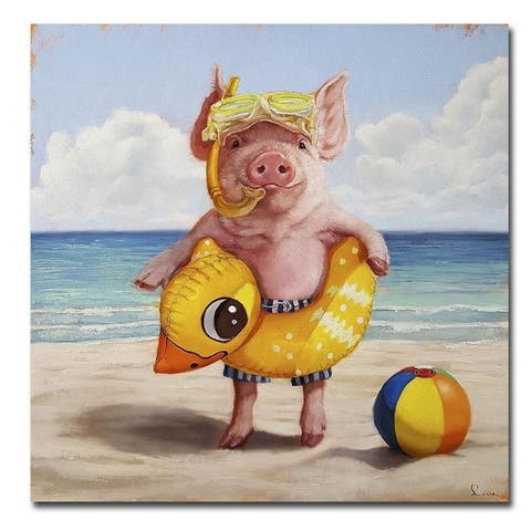 Baked Ham by Lucia Heffernan Gallery Wrapped Canvas Giclee Art (18 in x 18 in)